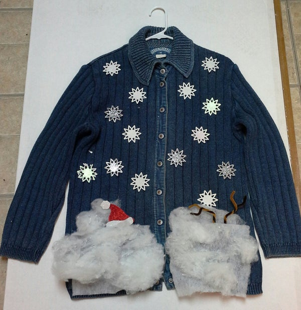 Blue Ugly Christmas Sweater