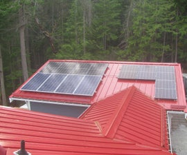 Rooftop Grid-tied Solar Panels With Microinverters