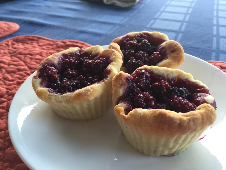 Mini Blackberry Croissant Pies