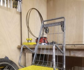 Shopping Cart Chair With Magazine Holder