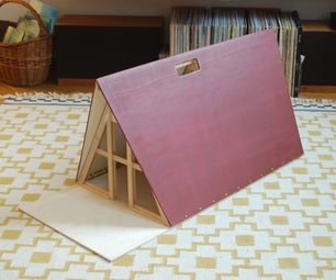 Vintage A-Frame Dollhouse (collapsable)