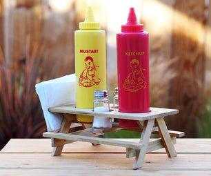 Picnic Table Condiment Holder