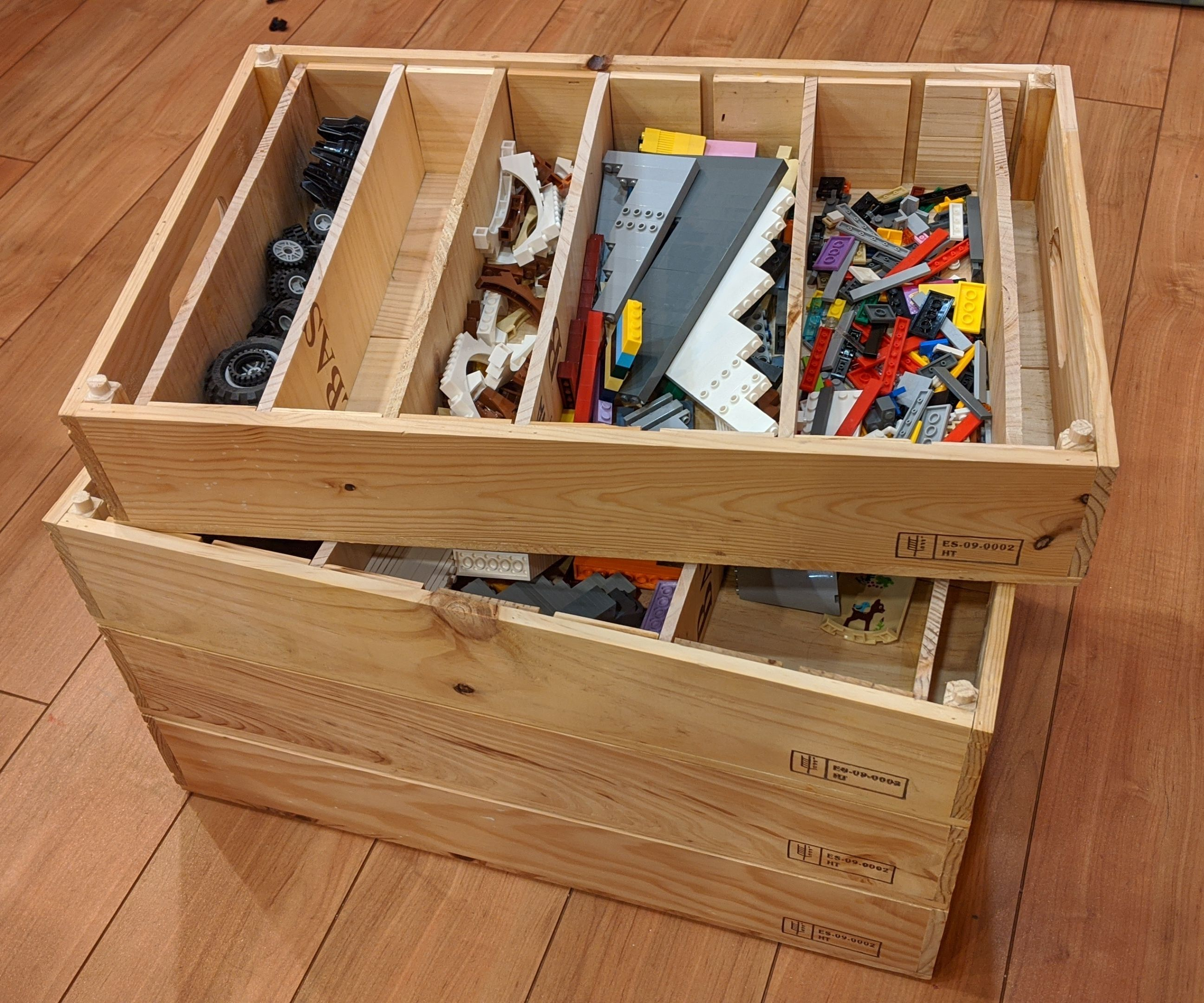 From Wine Boxes to Stackable LEGO Storage