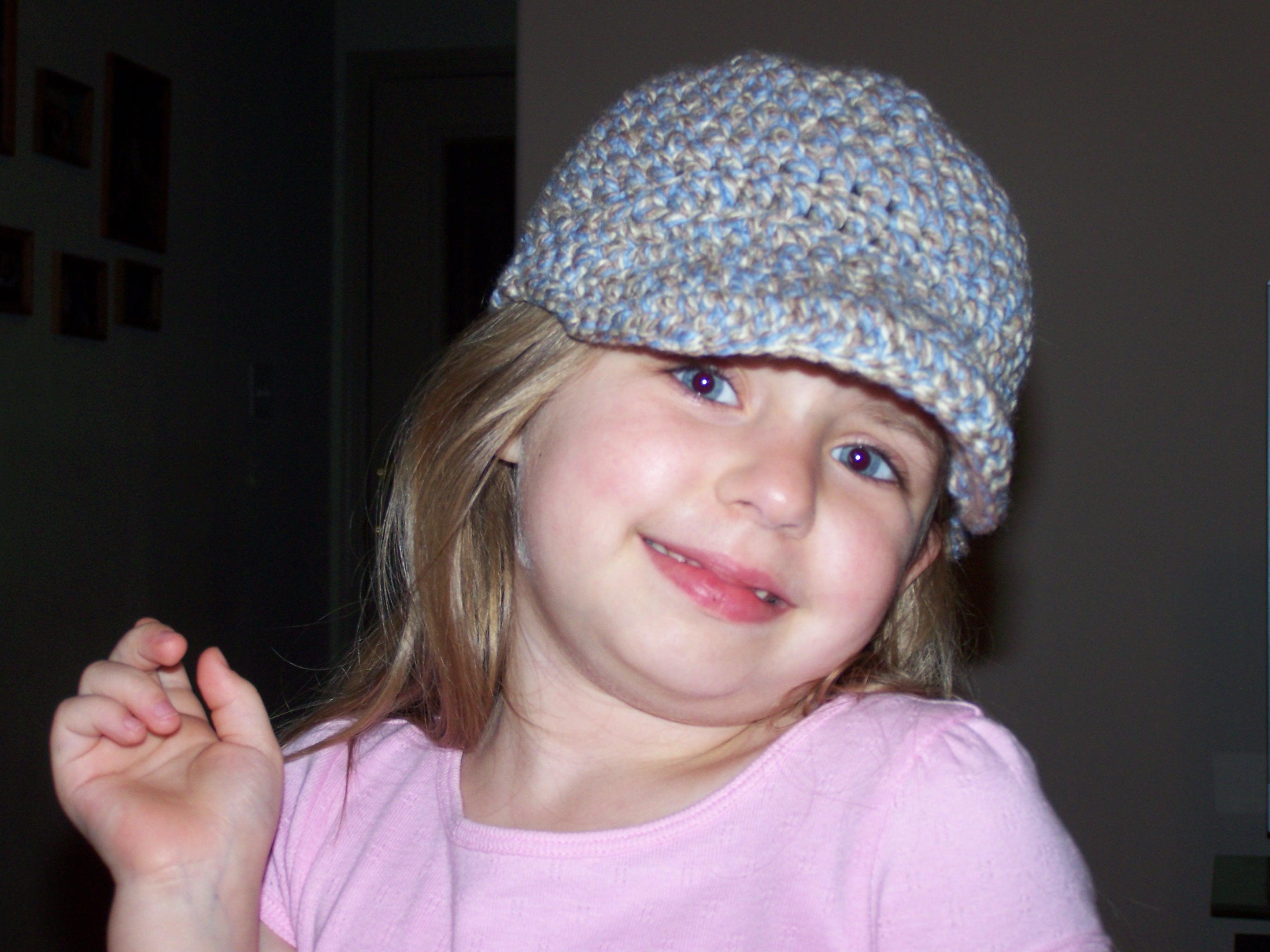 Crocheted Girls Caps