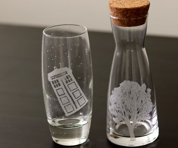 Engraving Glass With a Dremel