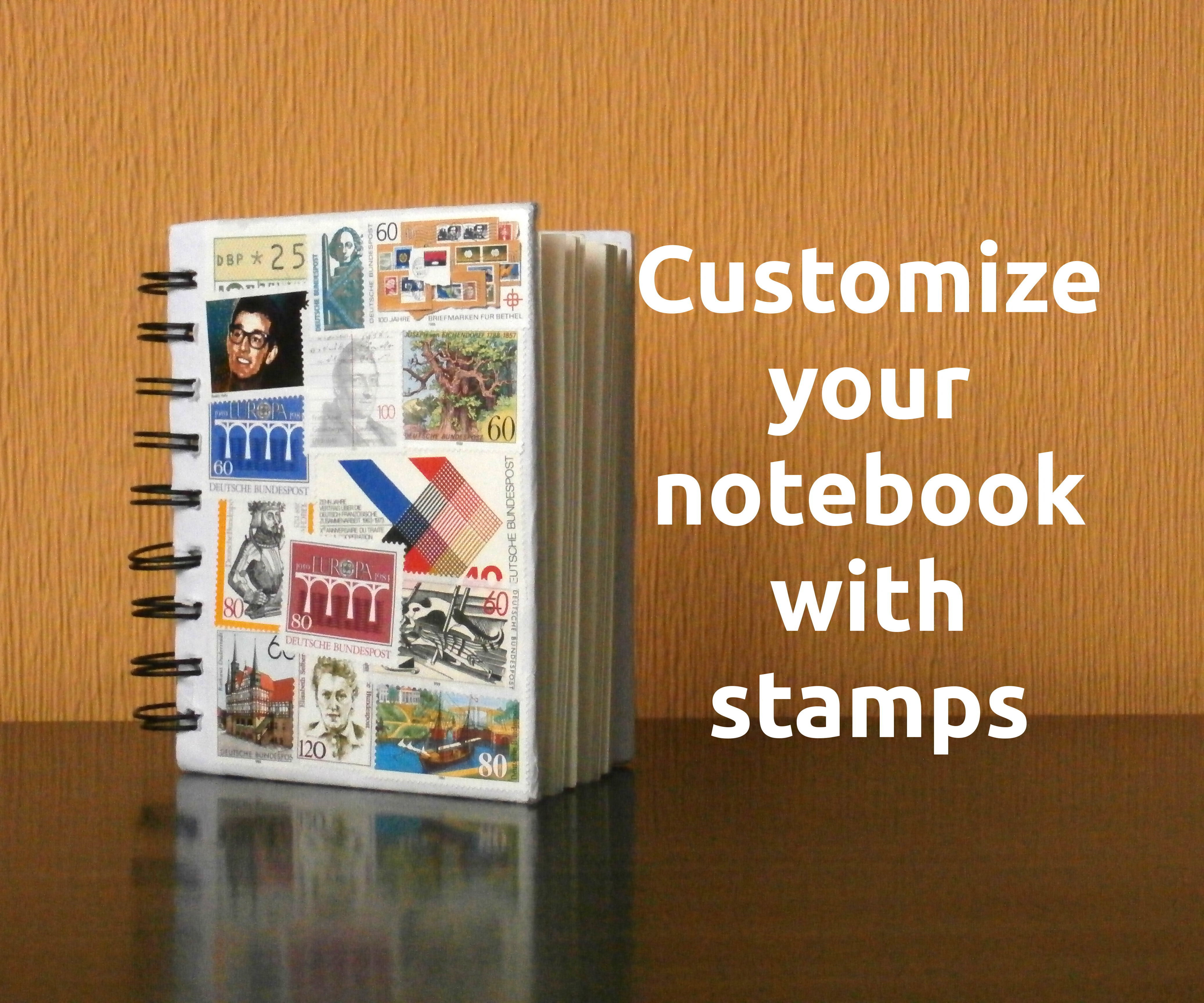 Customize your notebook (or any object) with stamps