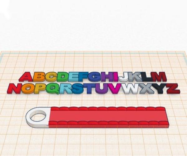 Кольцо Для Ключей С Буквами!