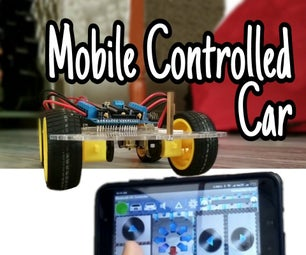 Mobile Controlled Bluetooth Car    Easy    Simple    Hc-05    Motor Shield