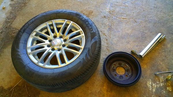 Replacing Rear Wheel Hubs on the Honda Civic 1999.