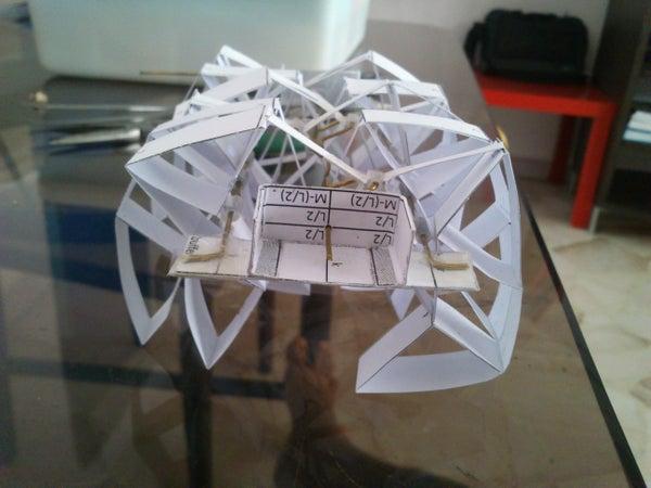 Simple Theo Jansen Mechanism Based Walking Deskbeest