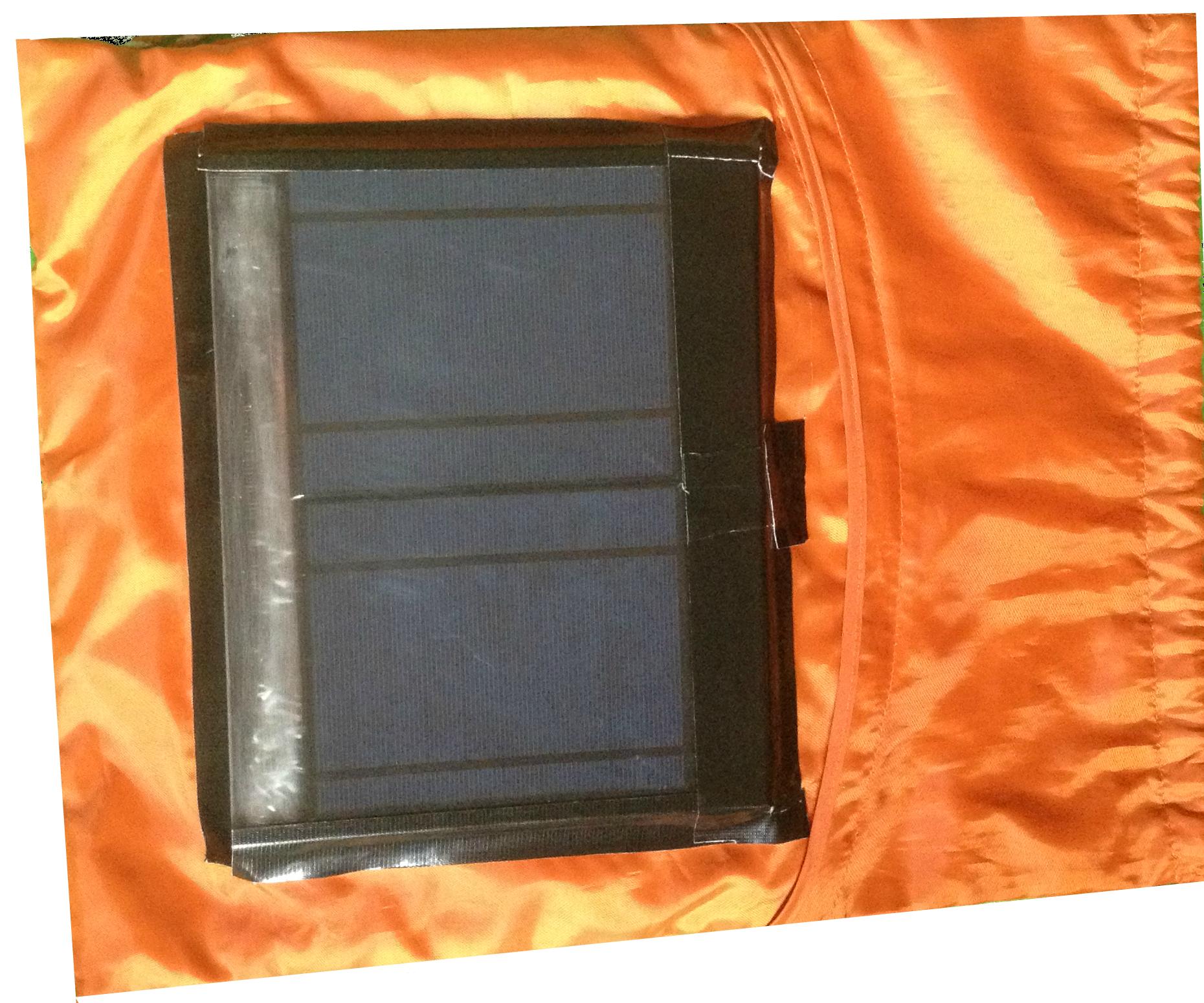 Solar Drawstring Bag with Battery