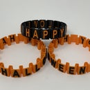 "Happy Halloween ""Somewhat Stretchy"" Bracelet."