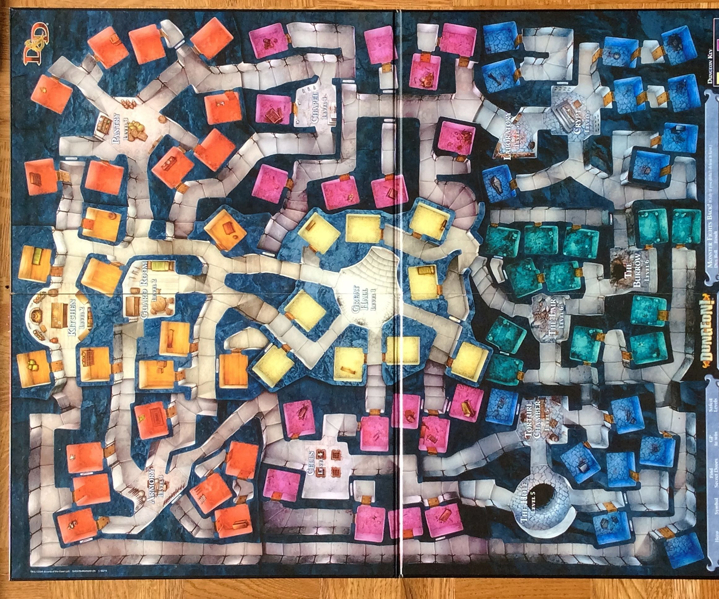 "3-D, Laser-Cut ""Dungeon"" Game Board"