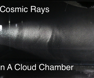 Detecting Cosmic Rays in a Cloud Chamber