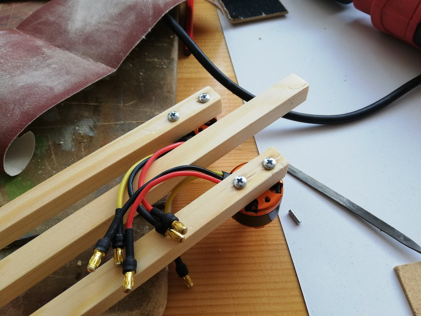Drilling Holes for the Motors