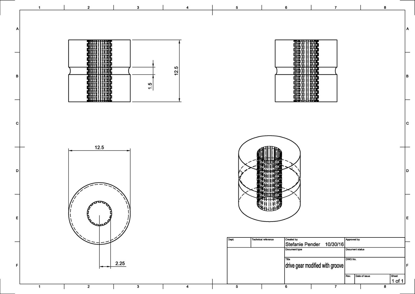 Manual Lathe: Nozzle and Gear
