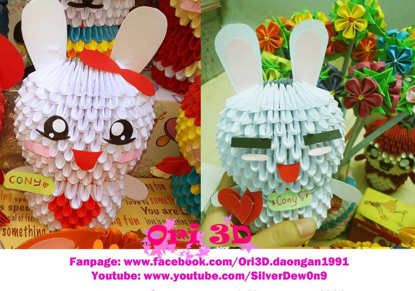 How to Make Cony Rabbit 3D Origami