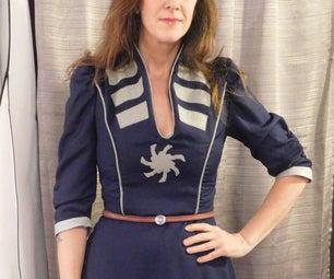 Captain America-inspired Dress
