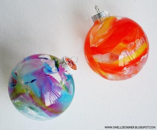 Crayon Melt Glass Ornaments DIY