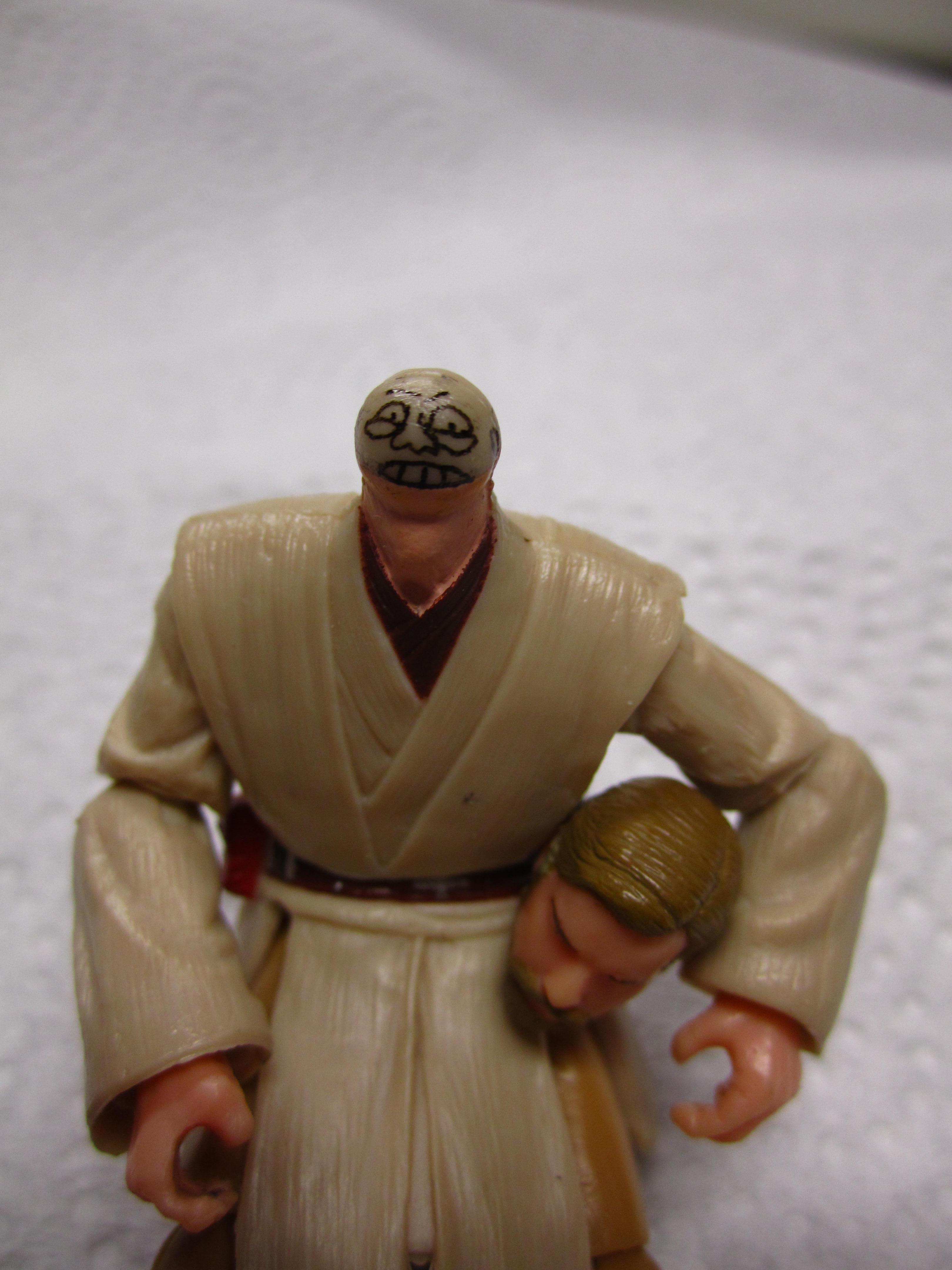 Turn the Jedi Obi-Wan Kenobi into a Nubby Pinhead. Easy!