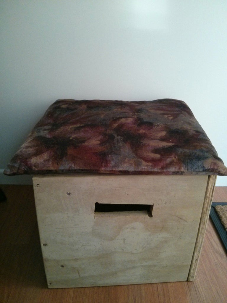 Multi-purpose Stool (with Storage) From Recycled Wood