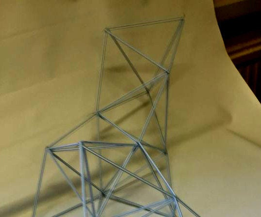 Solid Geometry Using Milk Straws