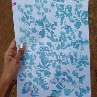 Hammered Leaf and Flower Prints
