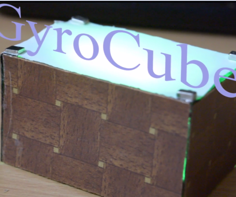 GyroCube    Gyroscope controlled RGB LED cube