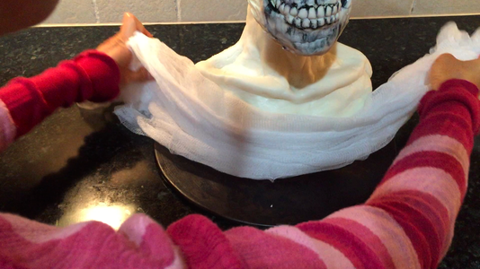 Gather Cheesecloth and Wrap Around the Bust