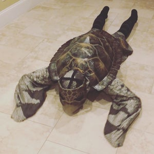 Sea Turtle and Plastic Straw Couples Halloween Costume