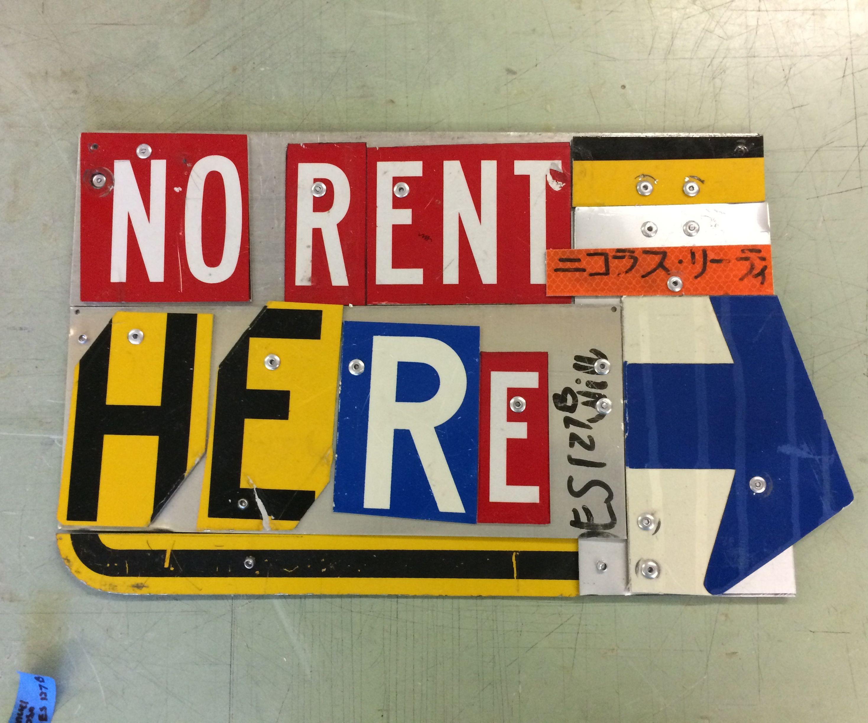Street Sign Typographic Poster