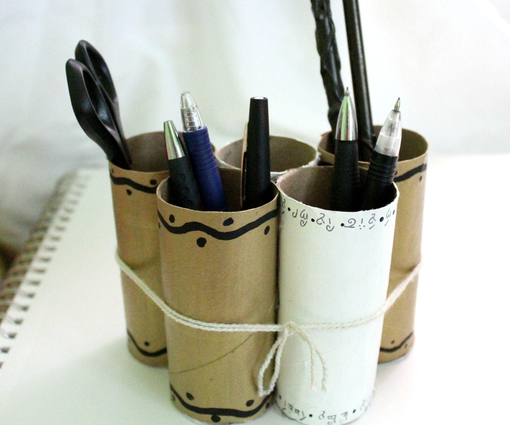 Elvish-Themed Toilet-Paper Tube Pencil Holder