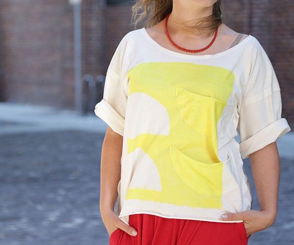 DIY Oversized T-Shirt : No-sew