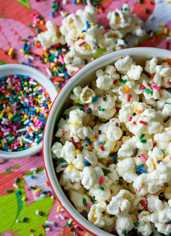 Funfetti Cake Batter Popcorn