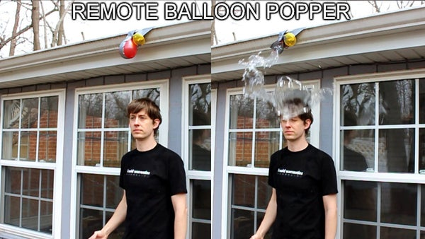Remote Controlled Balloon Pop Prank