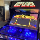 Arcade Machine With Changing LED Marquee