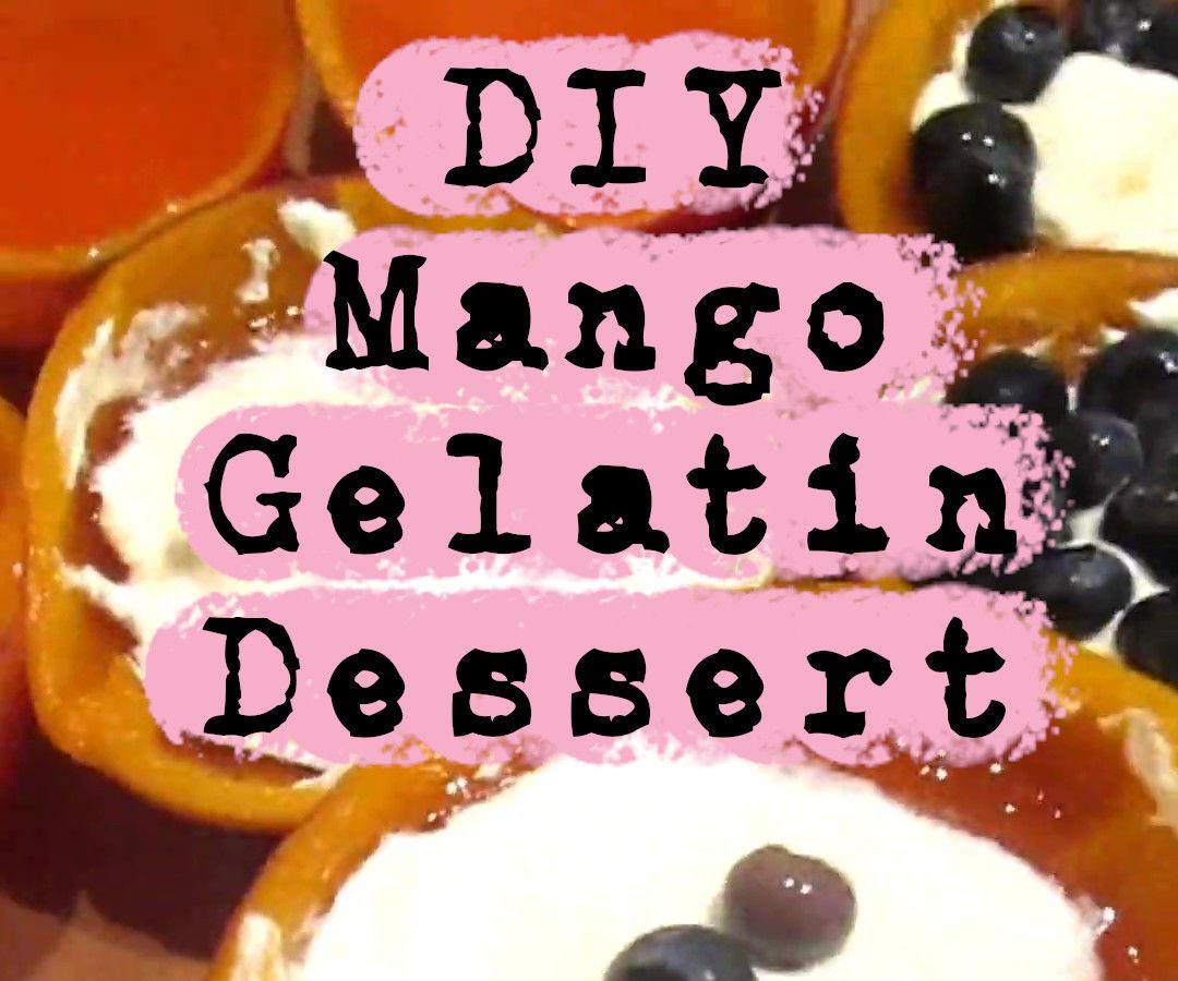Mango-Dished Gelatin Dessert