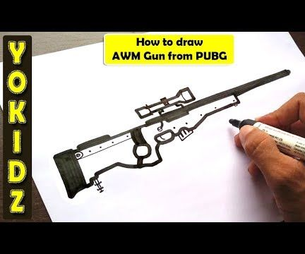 How to Draw AWM Gun From PUBG