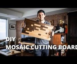 Mosaic Scrap Wood Cutting Board