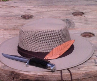 Leather Hat Feather