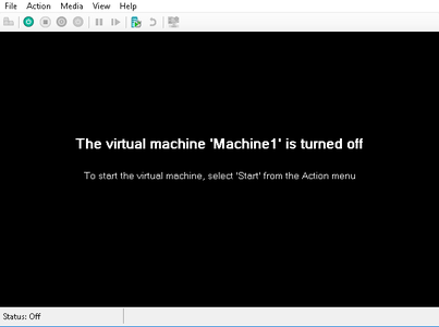 Start the Virtual Machine