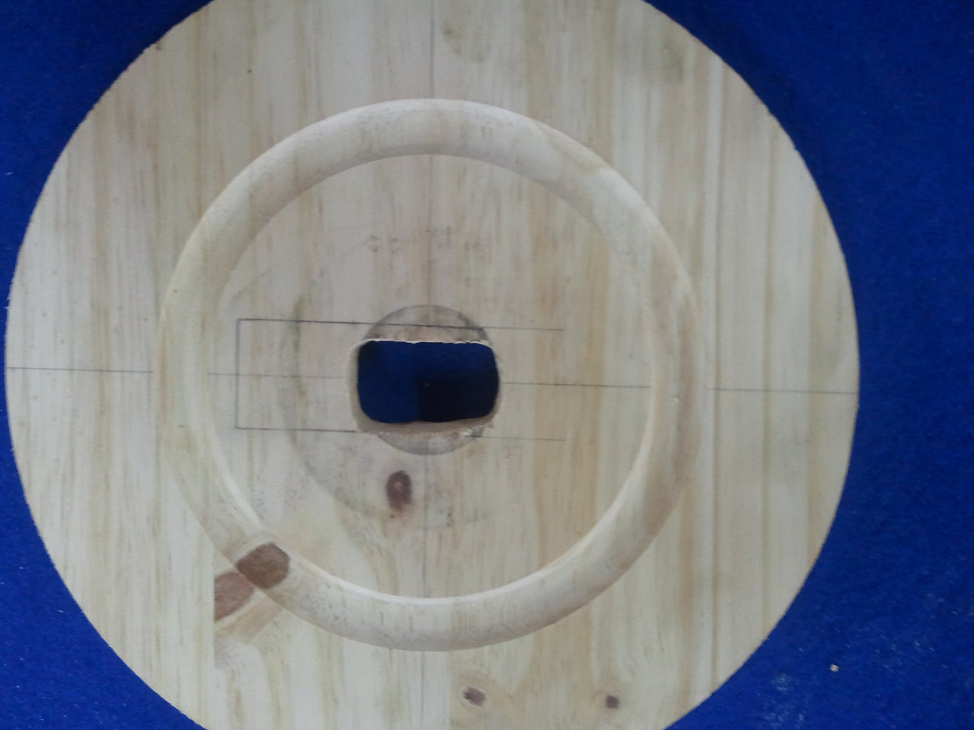 Carving Out the Wooden Top Plate Motor Horn Housing