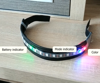 Safety Armband (with ATtiny85 and WS2812)