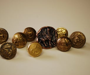 Vintage Military Button Rings