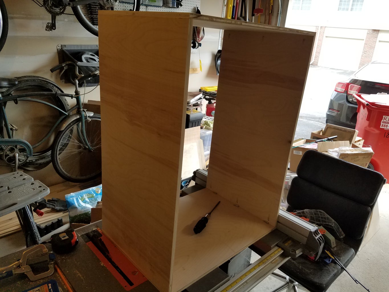 Cut Pocket Holes and Assemble Outer Box