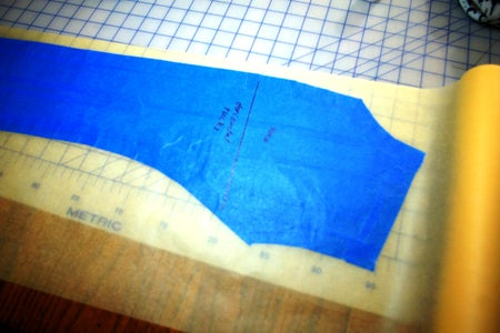 Place the Taped Pattern Piece on Tracing Paper