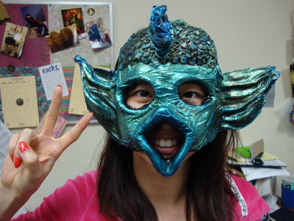 Creating Any Shape Papier Mâché Mask