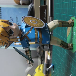 Breath of the Wild Link Papercraft (with Papercrafting Tips)