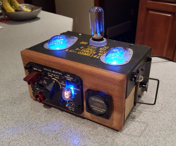 F-104 Starfighter Steampunk Lamp and Outlet