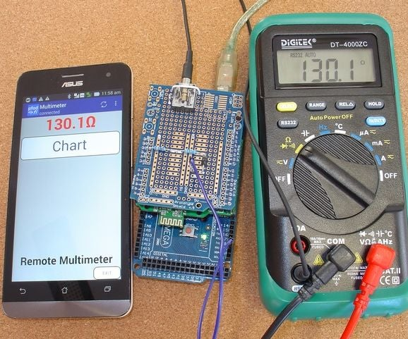 High Accuracy Remote Data Logging Using Multimeter/Arduino/pfodApp